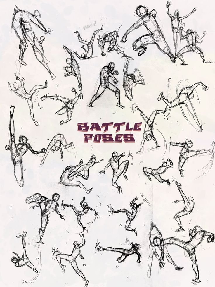 Battle Poses- Kick and Punch by NebulaInferno.deviantart