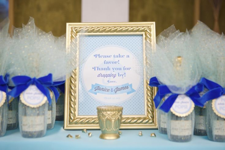 Mini Champagne Bottle Favors To POP When Mommy Pops A