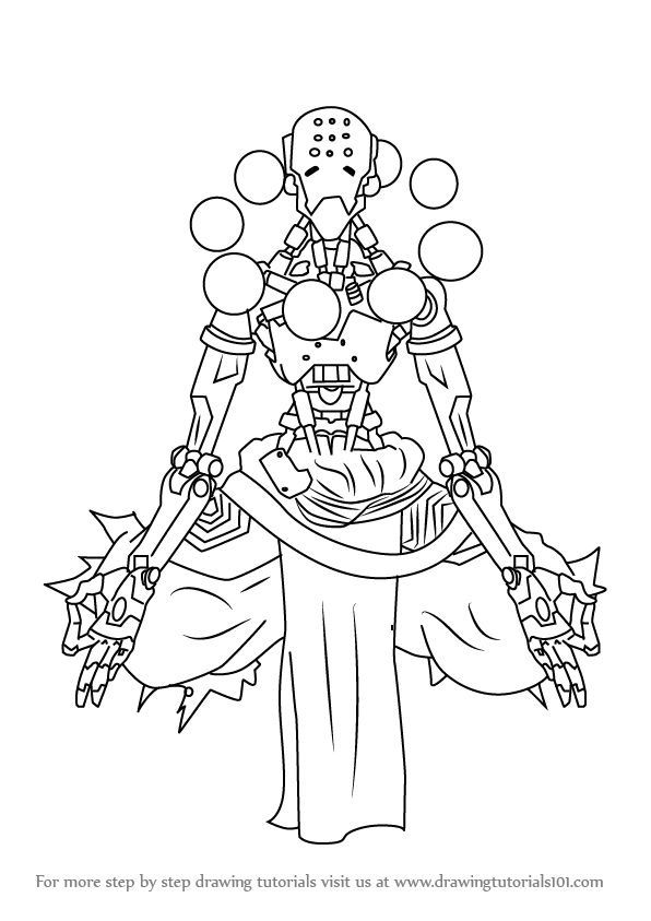 Learn How To Draw Zenyatta From Overwatch Overwatch Step By Step Drawing Tutorials Drawing