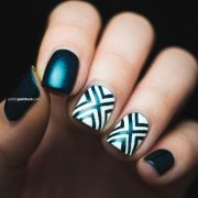 1000 ideas teal nail design