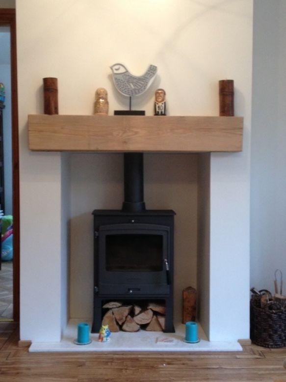 New Oak Railway Sleeper Fireplace For The Home