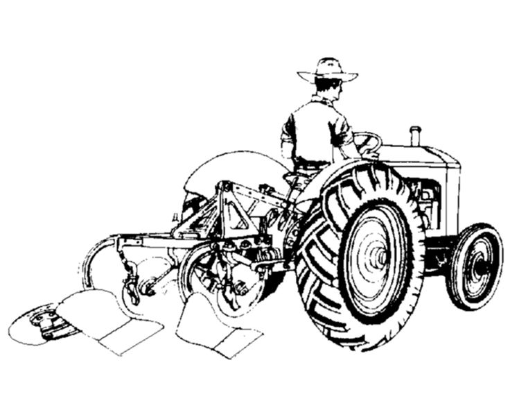 Old Ford Tractor Coloring Pages