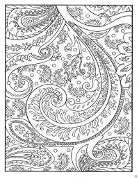 Dover Paisley Designs Coloring Book | Mandala coloring ...