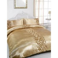 gold+king+comforter+set | ... about Rita Gold Embellished ...