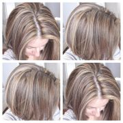 tri color hair styles colored