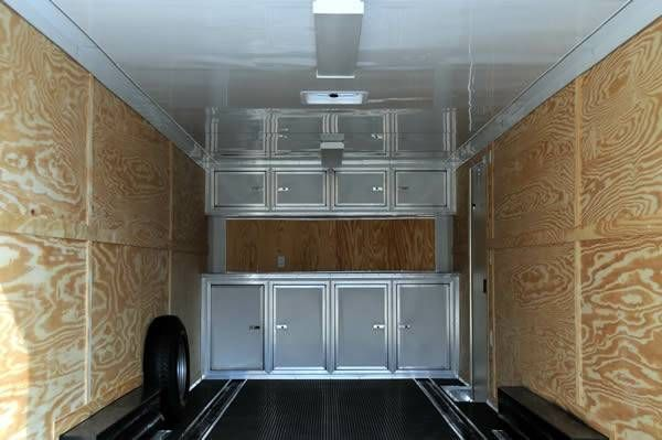 2014 85 x 24 ENCLOSED CAR HAULER CARGO TRAILER LOADED