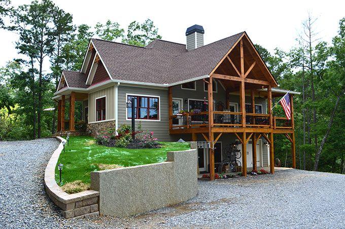 Lake Wedowee Creek Retreat House Plan  House plans Lakes and Lake house plans