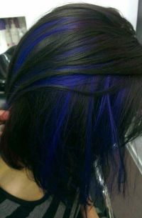 1000+ ideas about Blue Hair Streaks on Pinterest