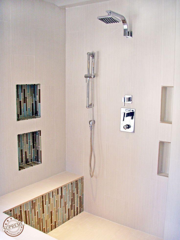 How To Retile A Shower  Porcelain tiles Mosaics and White porcelain tile