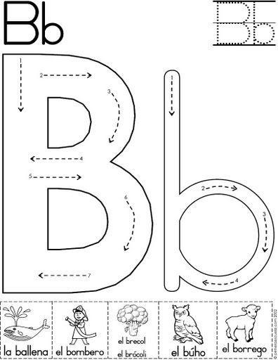 lera b fichas del abecedario y el alfabeto para descargar