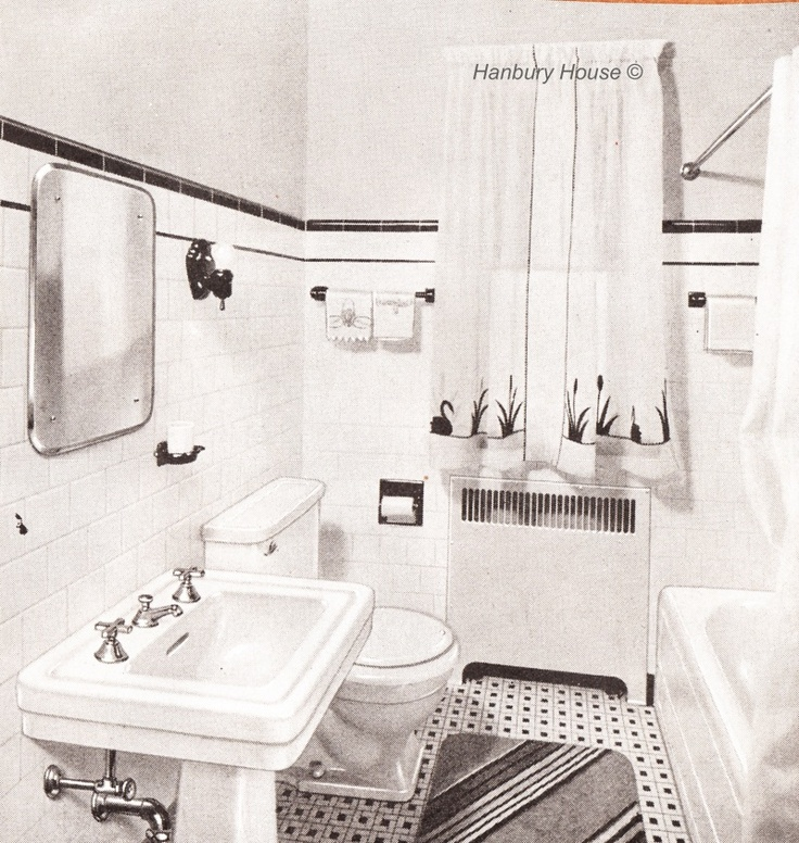 11 best images about Bathroom Remodel Inspiration 1940 style on Pinterest