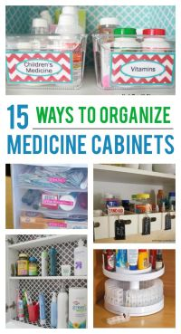 17 Best ideas about Organize Medicine Cabinets on ...