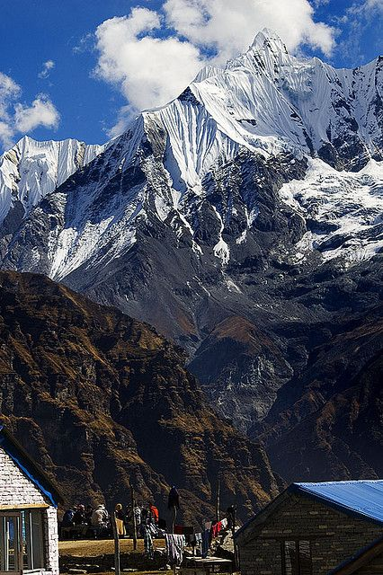 """Annapurna – a section of the Himalayas in north-central Nepal. Annapurna is a Sanskrit name that literally means """"full of food"""","""