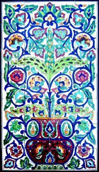 TURKISH CERAMIC TILES: Turkish design mosaic panel hand ...