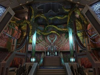 throne futuristic room space concept