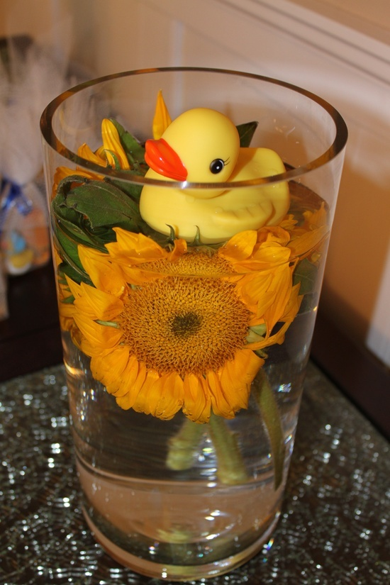 Rubber Ducky Baby Shower Centerpieces  rubber ducky