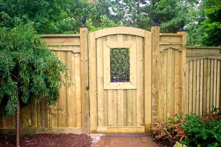 1000+ ideas about Wood Fence Gates on Pinterest