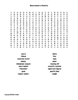 10 best images about General Chemistry Word Searches for