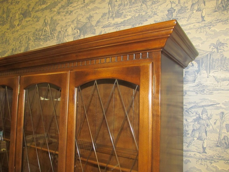 Classic Manor china cabinet detail  Ethan Allen Furniture