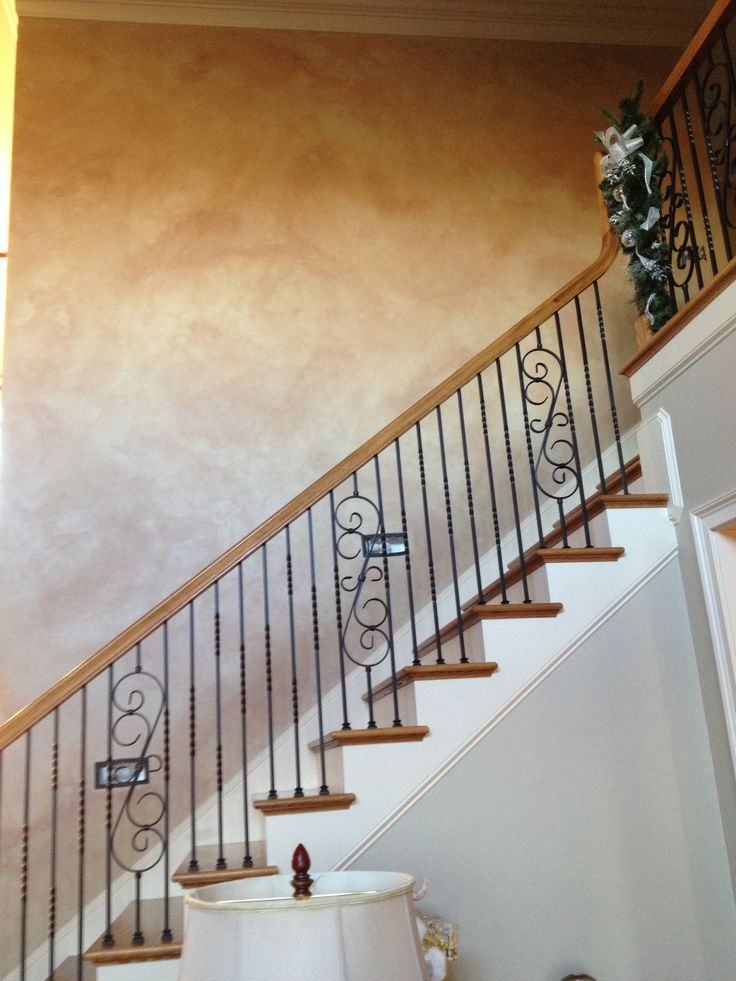 Stonelike Sherwin Williams Venetian Plaster with glaze gives an old world European flair to a