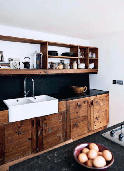 open rustic kitchen cabinets 17 Best images about Tiny house kitchens on Pinterest