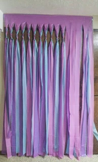Plastic Tablecloth Streamer Hang 1 Plastic Tablecloths Cut Into Strips Braid Or Tie Off
