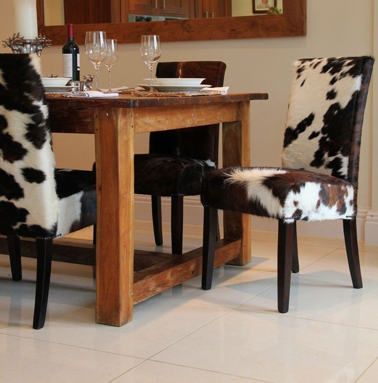You Choose the Cowhide Kensington Dining Chair  Dining