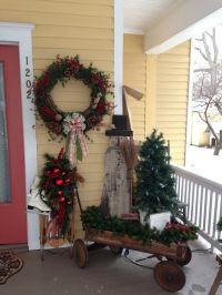 primitive porches | My primitive Christmas porch decor ...