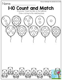 Counting Numbers 1 10 Worksheets - numbers apples and math ...