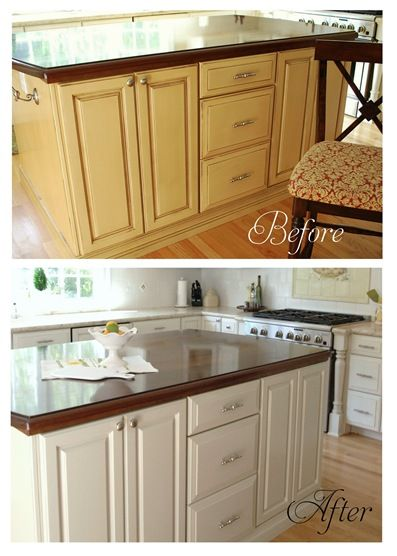 How To Repaint Kitchen Cabinets Cabinets, Diy And Crafts And Islands On Pinterest
