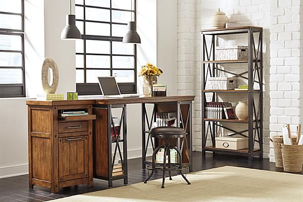 The Shayneville 54 Home Office Counter Height Desk from