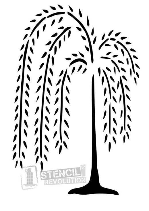 Download your free Willow Tree Stencil here. Save time and