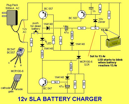 12 volt wiring diagram for garden lights mercruiser electric fuel pump solar charge controller circuit   the led flashes when battery is charged ...
