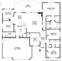 Open Ranch Style Floor Plans