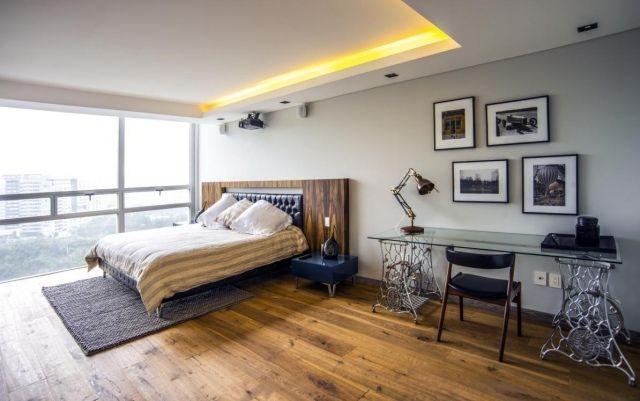 Faux plafond moderne dans la chambre  coucher et le salon  Design and Salons