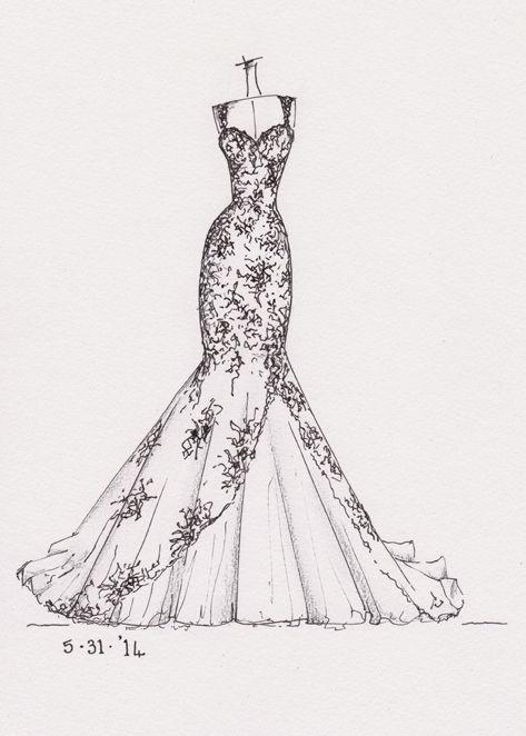 17 Best ideas about Wedding Dress Sketches on Pinterest