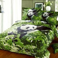 Wild Animal Planet Panda Print Twin, Full Size Bedding