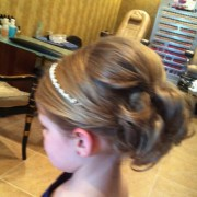 flower girl updo dance hair