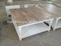French White Wash Coffee Table For Living Room Hl913-90s ...