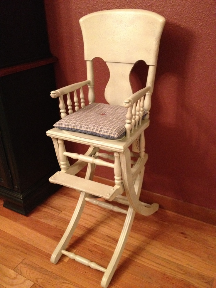 Antique high chair that converts to rocker  Furniture