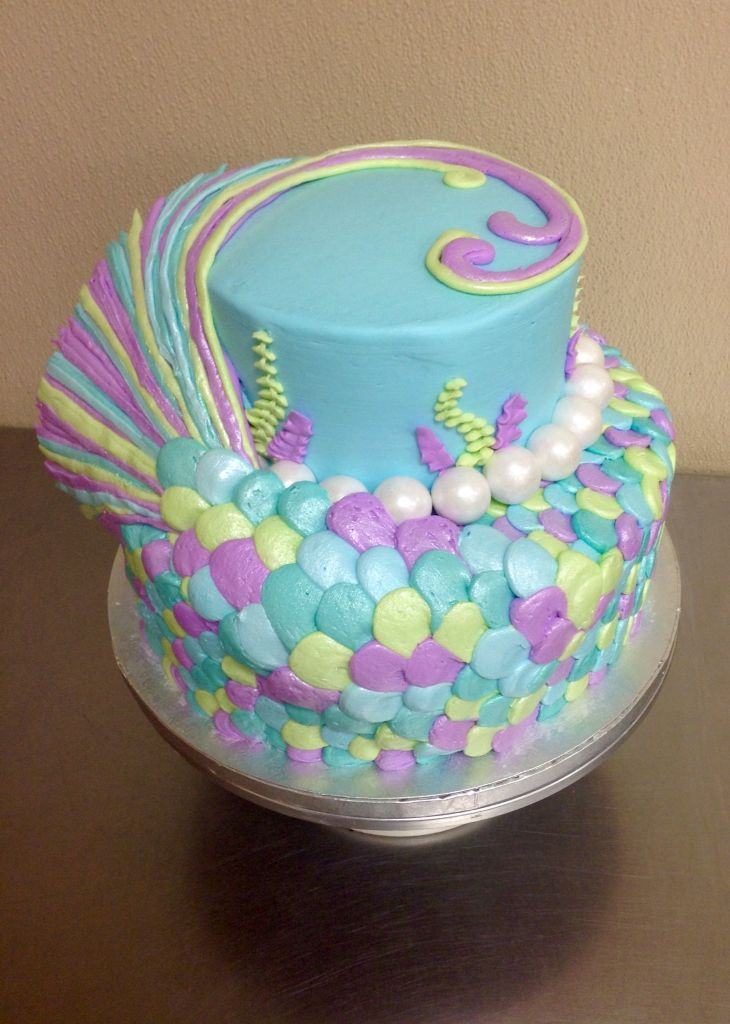 Mermaid Tail Cake Made With Buttercream Icing By Laurie