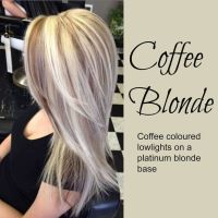 Coffee Blonde hair. Platinum blonde hair with coffee ...