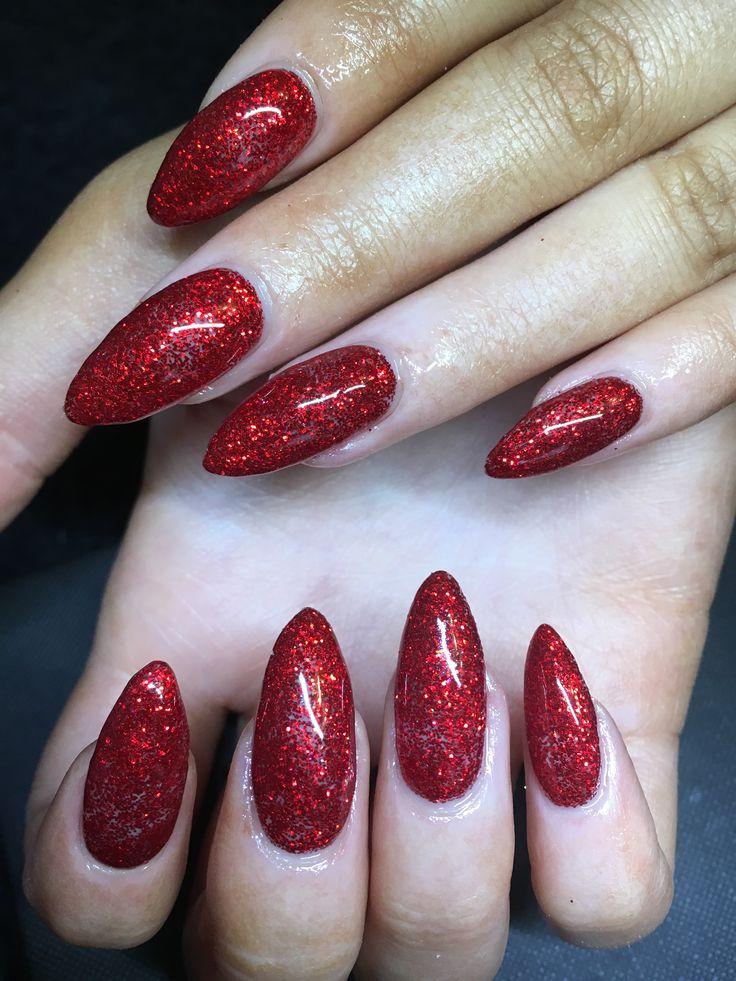 25+ best Red Glitter Nails ideas on Pinterest