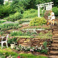 Hillside Landscaping Ideas | Gardens, Terrace and Hillside ...