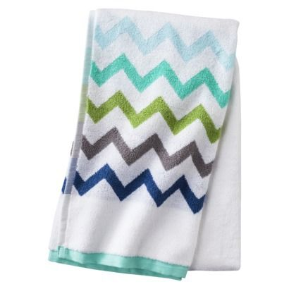 Circo Chevron Bath Towel  True White  Kids bathroom