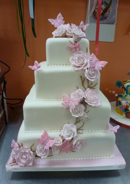 17 Best Ideas About Butterfly Wedding Cake On Pinterest