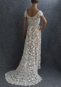 Irish crochet lace wedding dress, c.1912 | Weddings ...