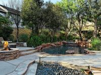 Secluded and private with mountain views, this pool, fire ...