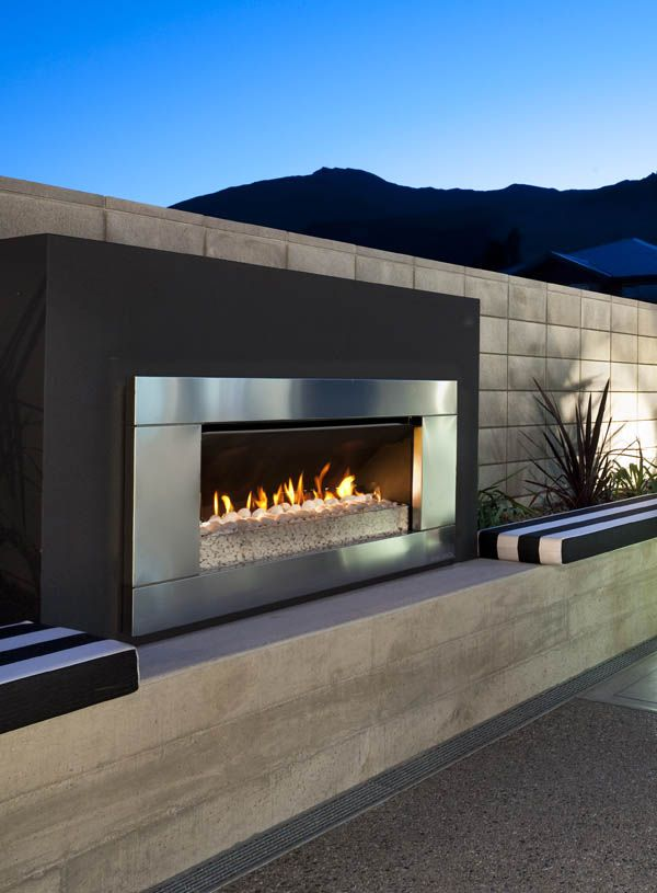 Gas and Wood Outdoor Fireplaces