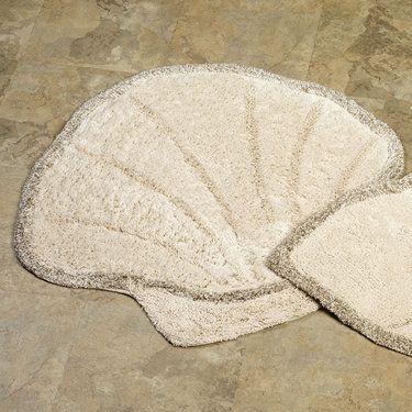Bath Rugs Scallops And Shells On Pinterest